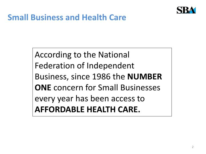 Small business and health care