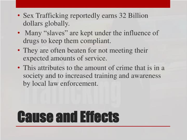 Sex Trafficking reportedly earns 32 Billion dollars globally.