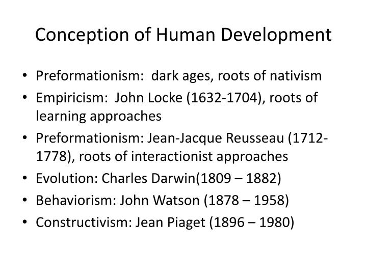 Conception of Human Development