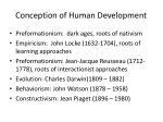 conception of human development