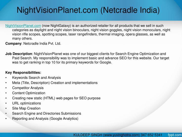 NightVisionPlanet.com (Netcradle India)