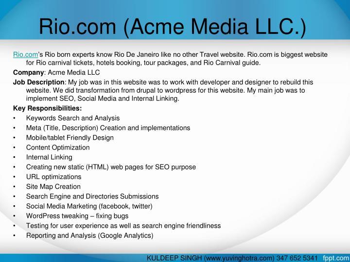 Rio.com (Acme Media LLC.)
