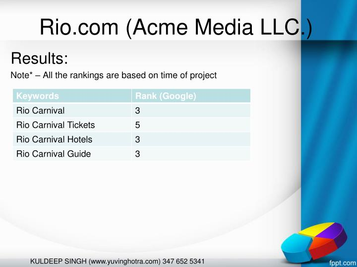Rio.com (Acme Media LLC.)