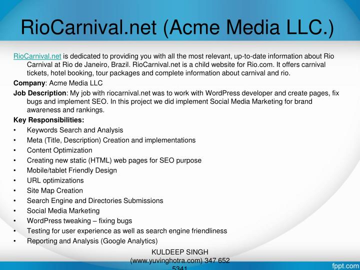 RioCarnival.net (Acme Media LLC.)