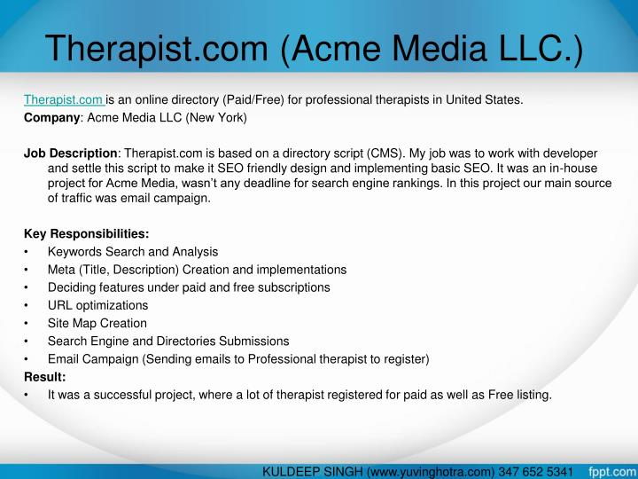 Therapist.com (Acme Media LLC.)