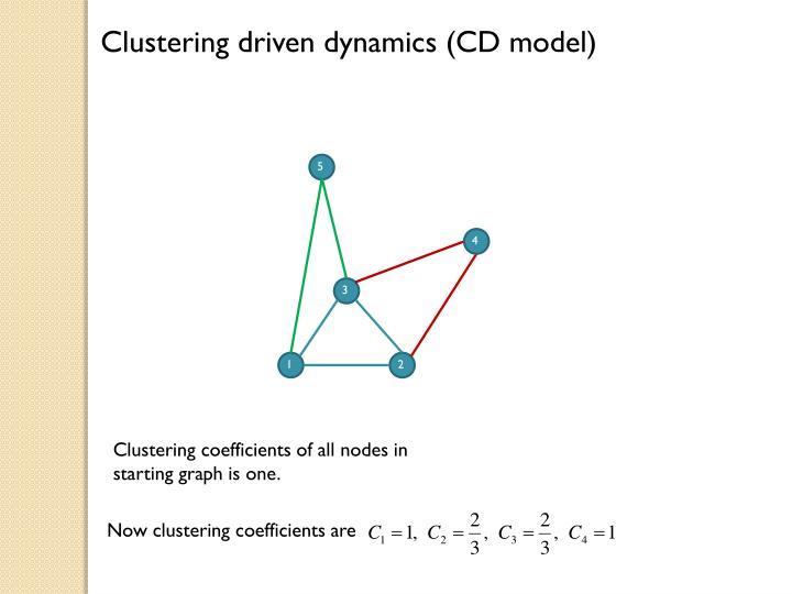 Clustering driven dynamics (CD model)