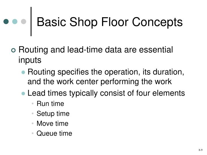 Basic Shop Floor Concepts