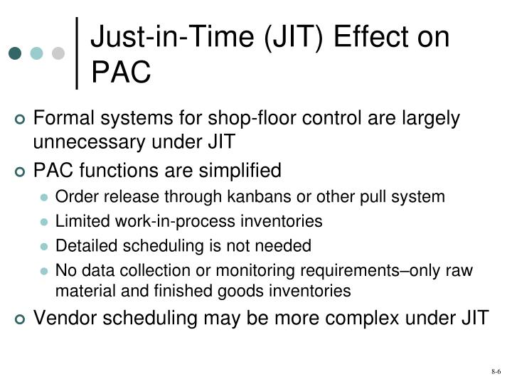 Just-in-Time (JIT) Effect on PAC