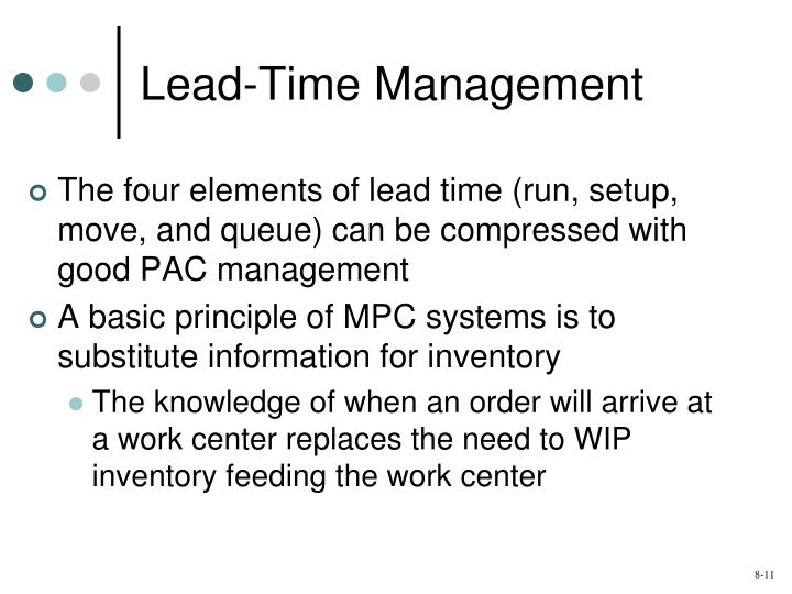 Lead-Time Management
