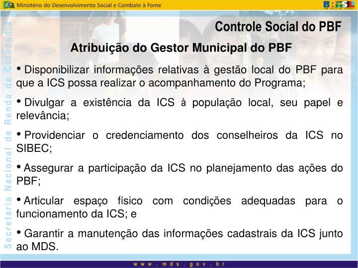 Controle Social do PBF