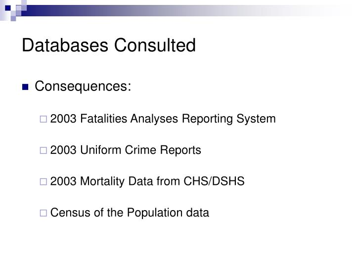 Databases Consulted