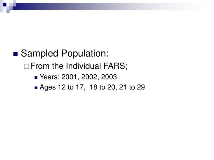 Sampled Population: