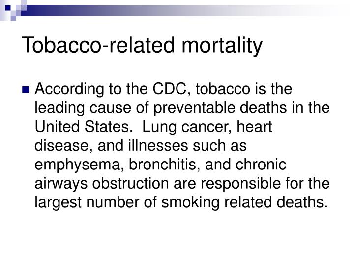 Tobacco-related mortality