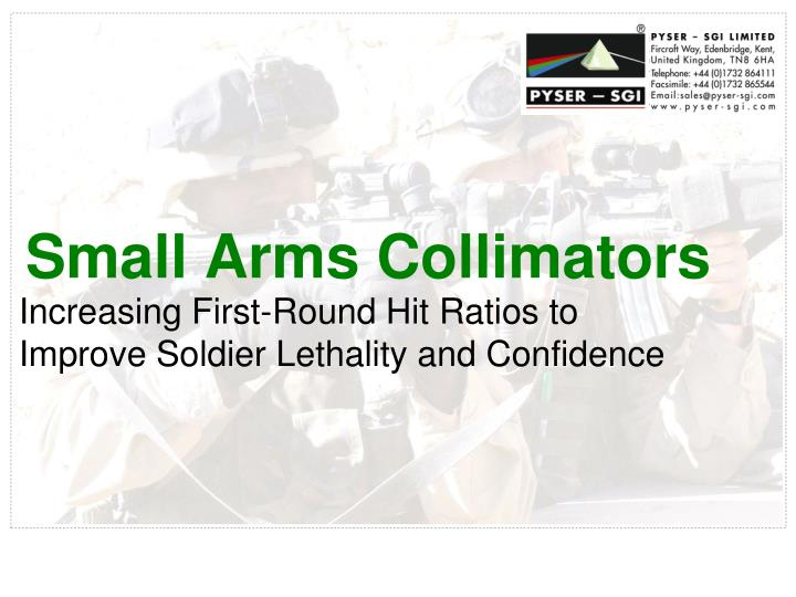 Small Arms Collimators