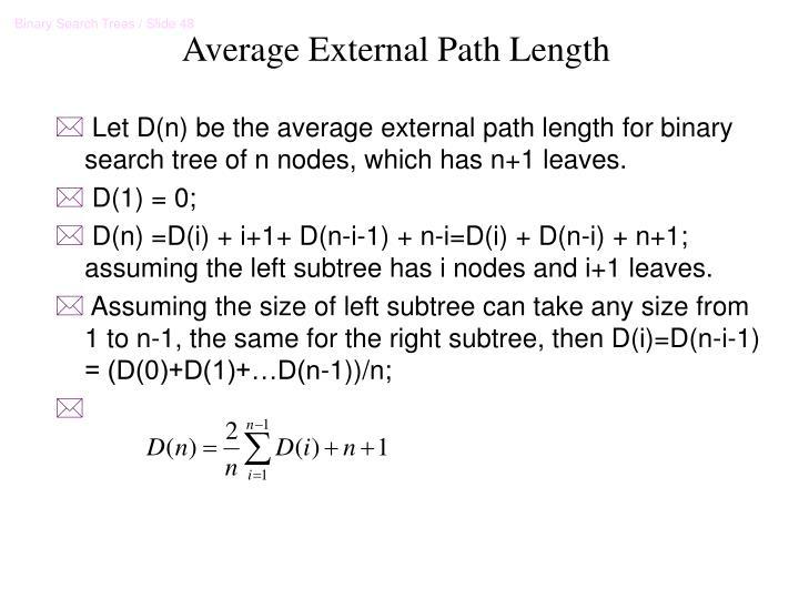 Average External Path Length