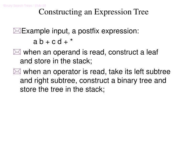 Constructing an Expression Tree