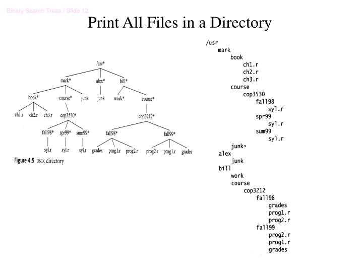 Print All Files in a Directory