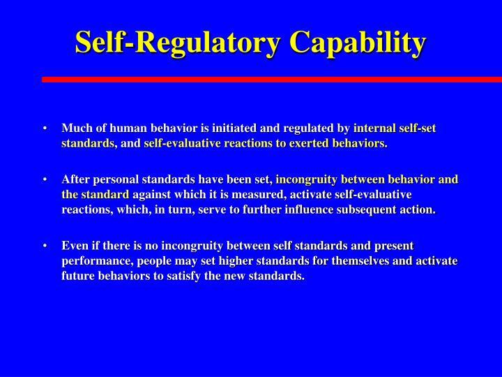 Self-Regulatory Capability