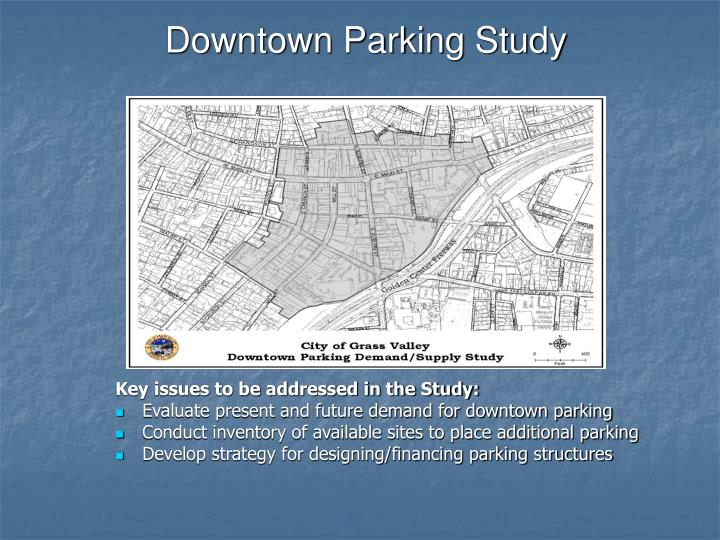 Downtown Parking Study