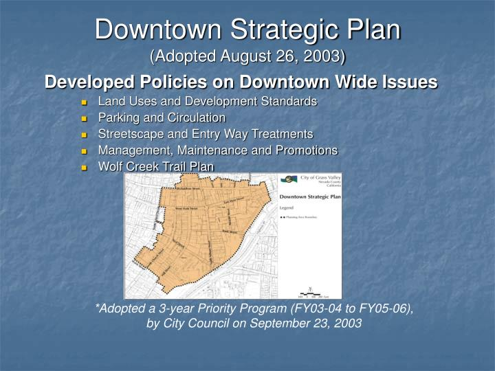 Downtown Strategic Plan