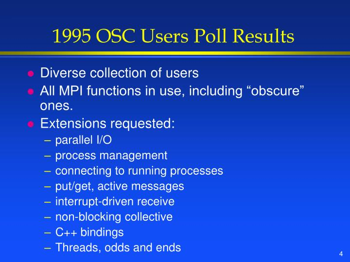 1995 OSC Users Poll Results