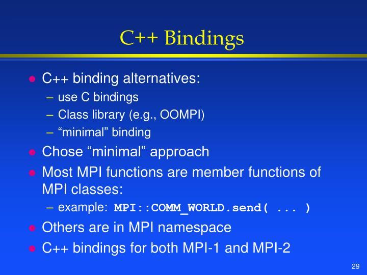 C++ Bindings