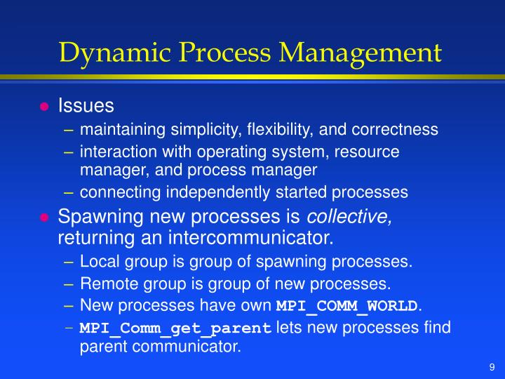 Dynamic Process Management