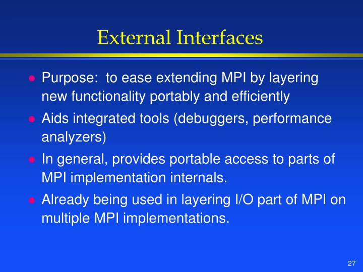 External Interfaces