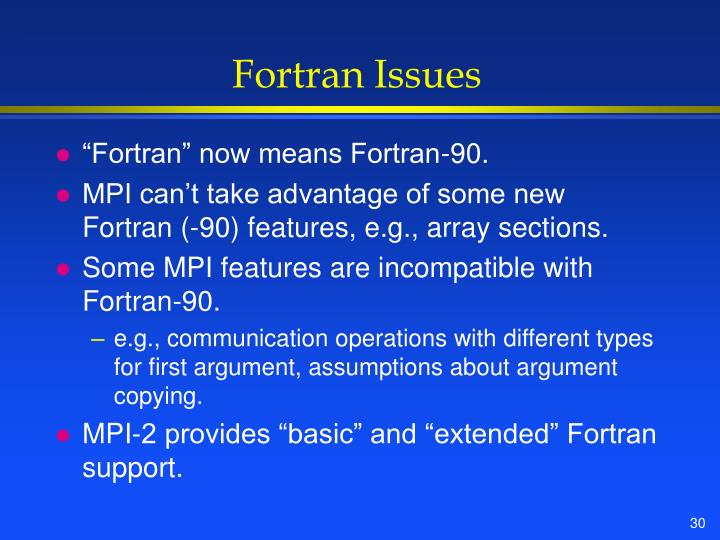 Fortran Issues