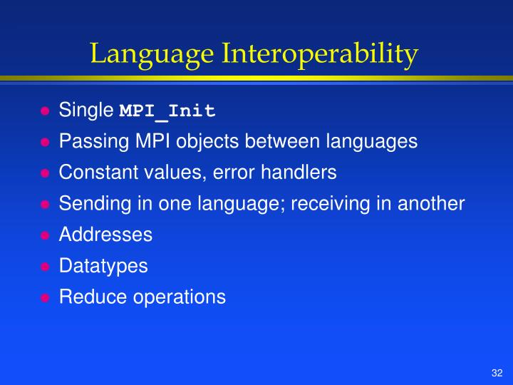 Language Interoperability