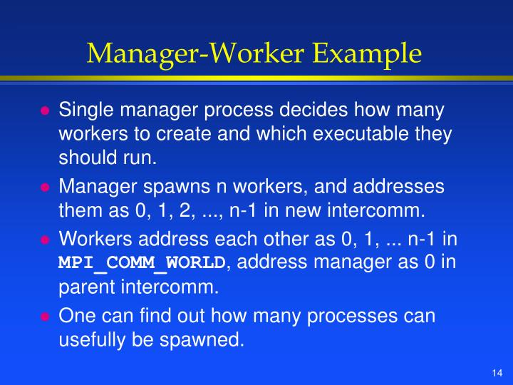 Manager-Worker Example