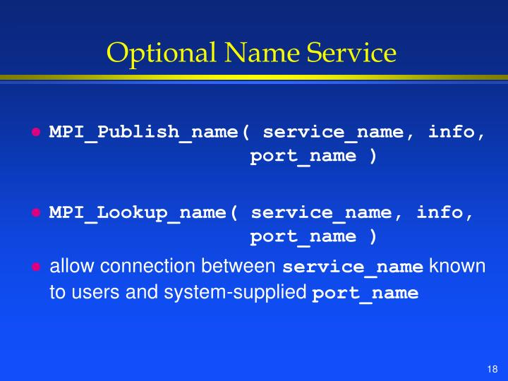 Optional Name Service