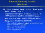remote memory access windows