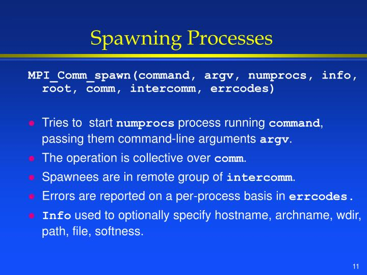 Spawning Processes