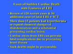 cases of sudden cardiac death with features of ehi1