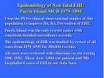 epidemiology of non fatal ehi parris island mcd 1979 1995