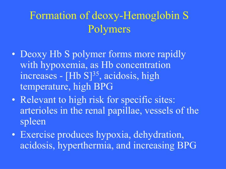 Formation of deoxy-Hemoglobin S Polymers