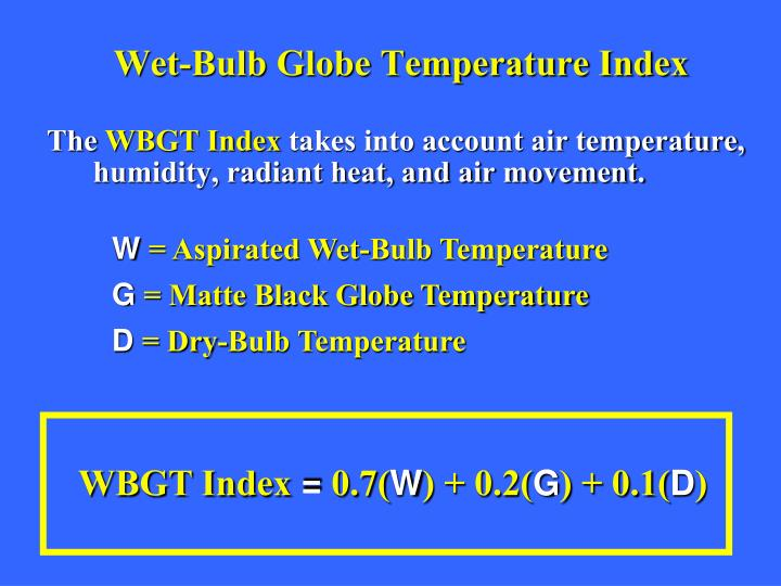Wet-Bulb Globe Temperature Index