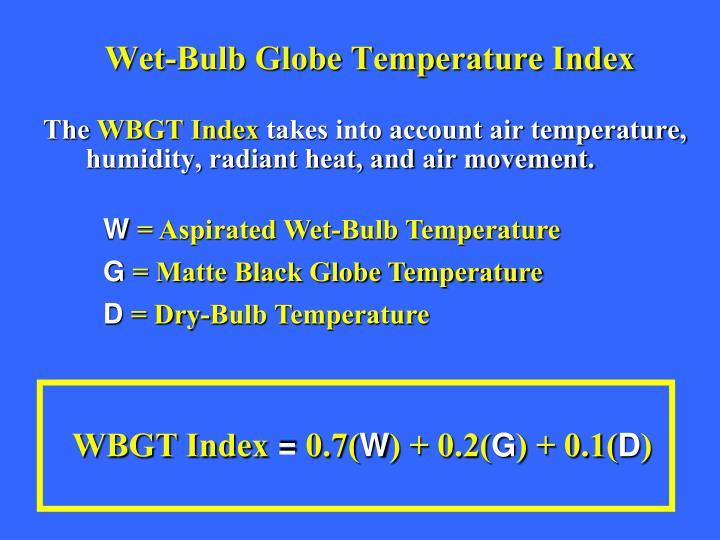 Wet-Bulb Globe Temperature Index