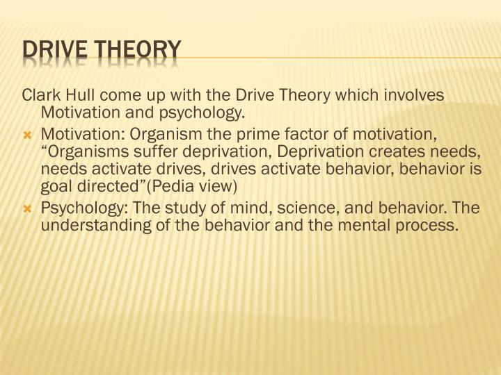 Clark Hull come up with the Drive Theory which involves Motivation and psychology.