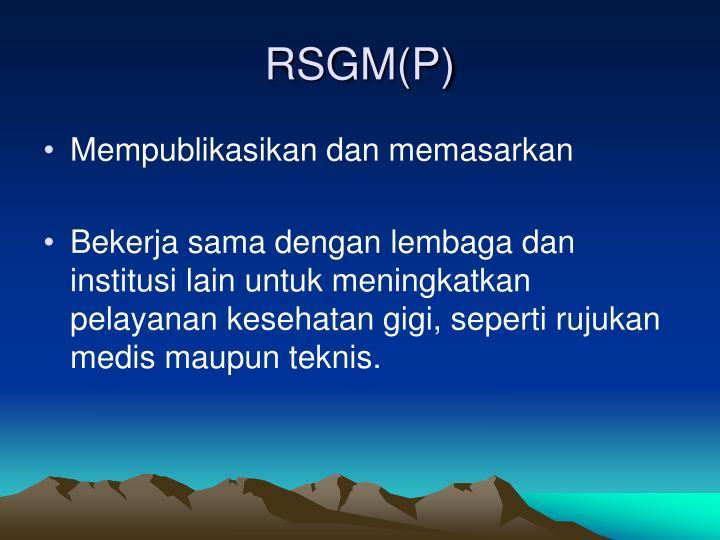 RSGM(P)
