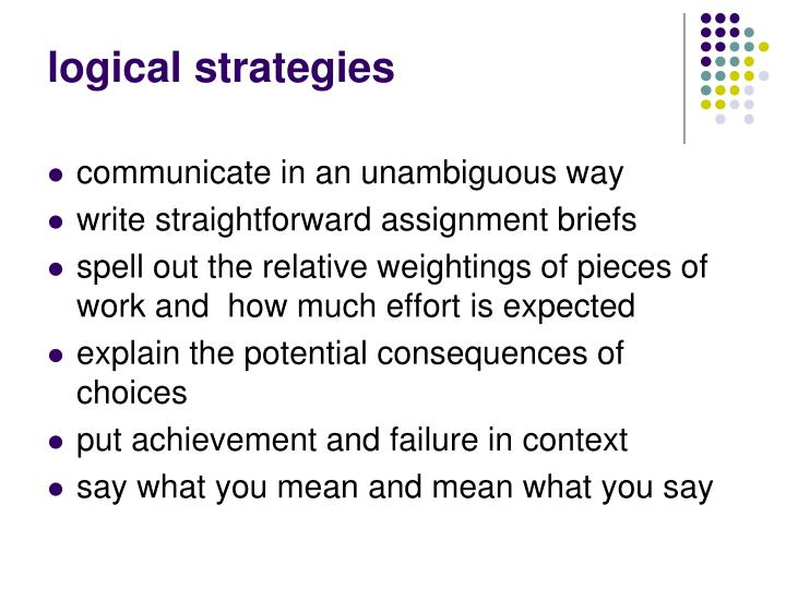 logical strategies