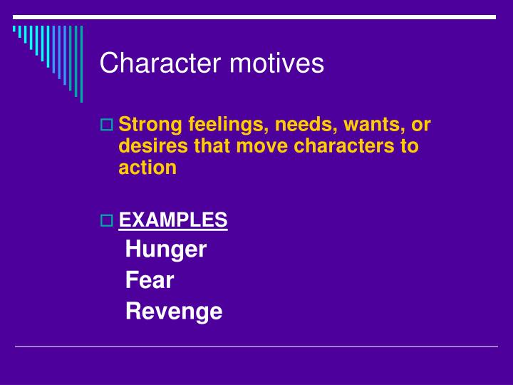 Character motives