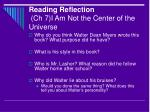 reading reflection ch 7 i am not the center of the universe