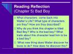 reading reflection chapter 5 bad boy