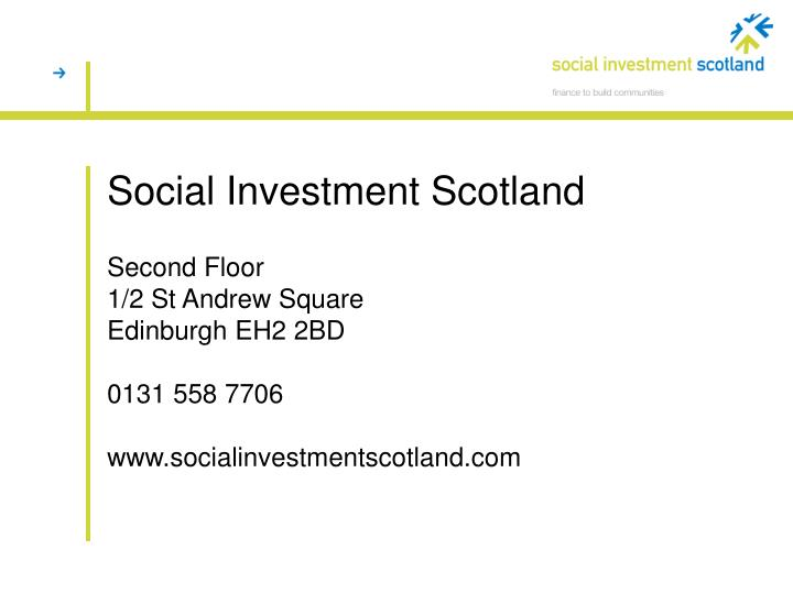 Social Investment Scotland
