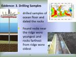 evidence 3 drilling samples