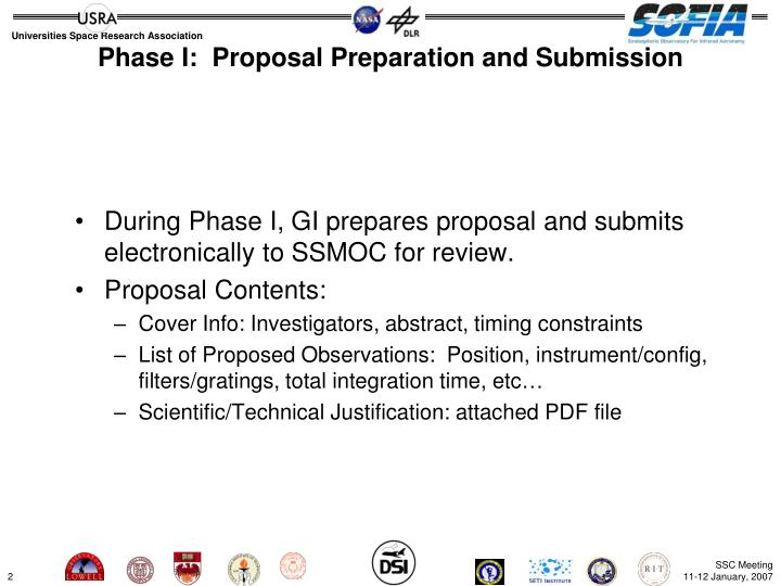 Phase i proposal preparation and submission