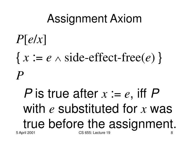 Assignment Axiom