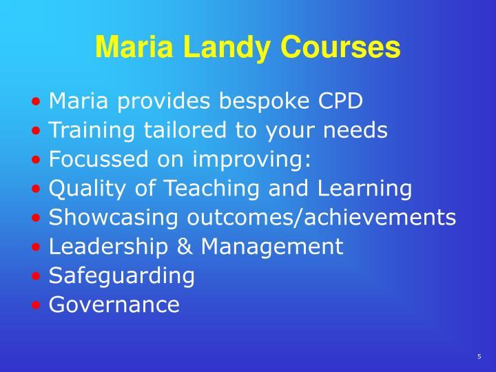 Maria Landy Courses
